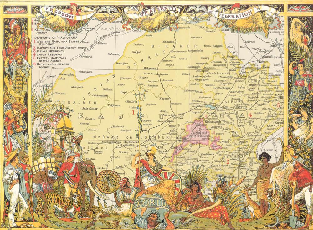 map-rajputana